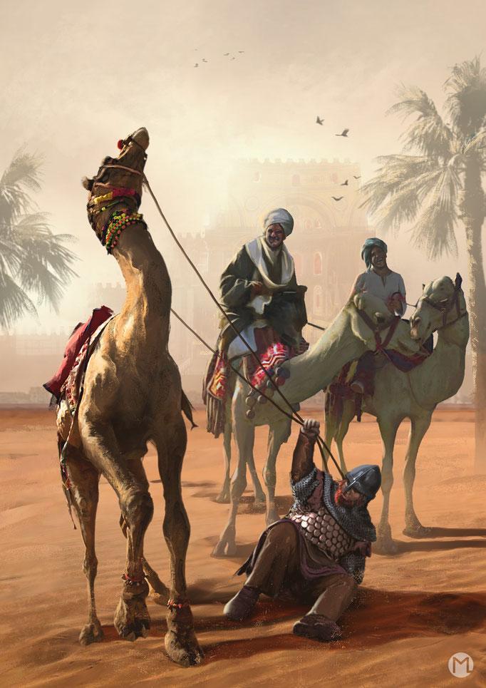 Artwork - Illustration - Northman vs Camel