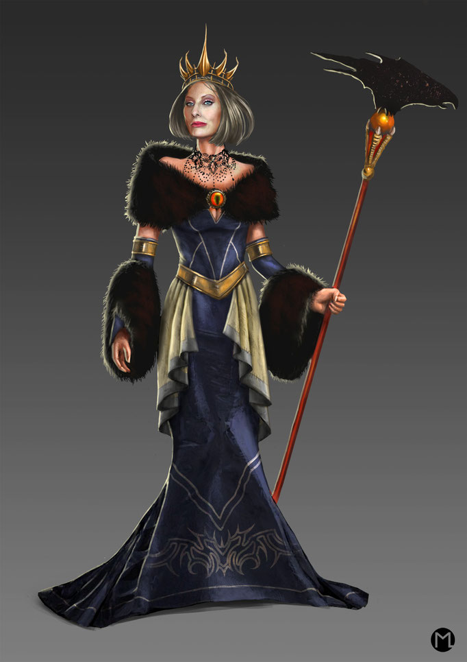 Concept Art - Character Design - Witch Queen - Hexenkönigin