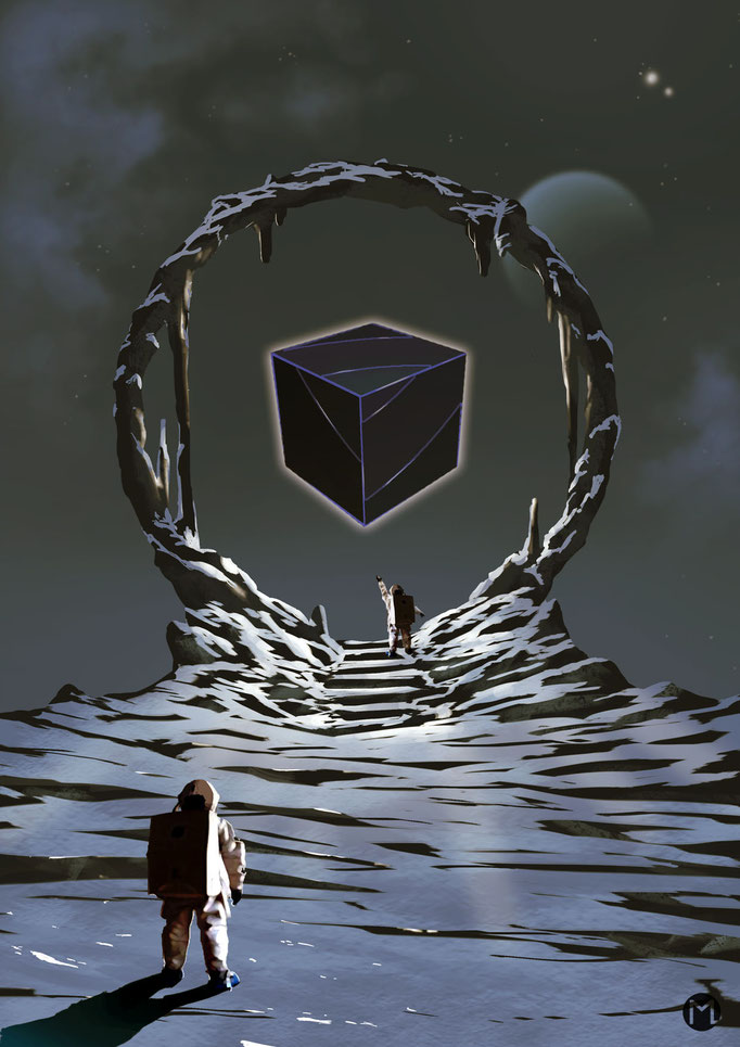 Concept Art - Illustration - Environment - Cube - Der Würfel