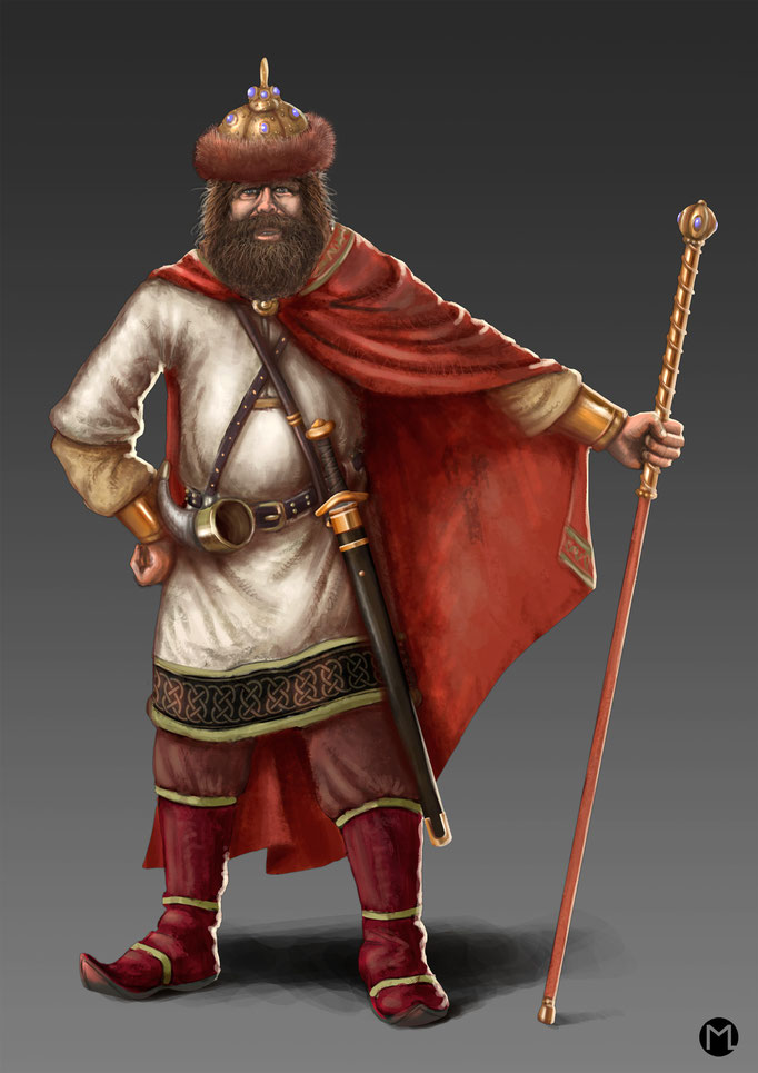 Concept Art - Character Design - Slavic King - Slawischer König