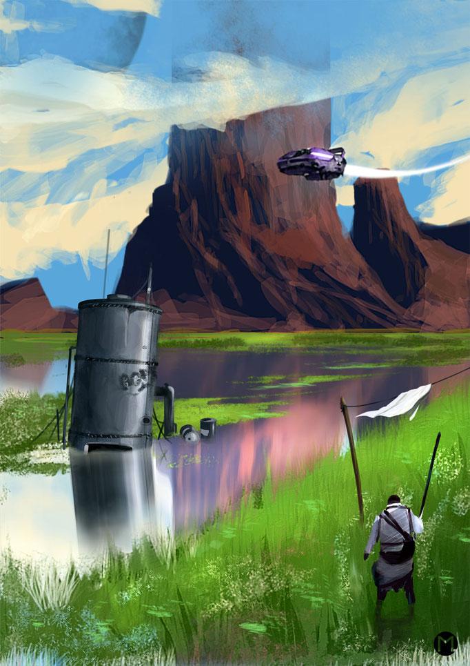 Concept Art - Illustration - Hermit