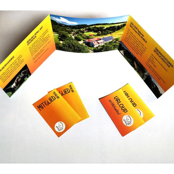 Michaelihof, Grafikdesign, Grafik, Folder, Visitenkarten,