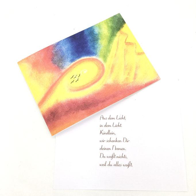 Geburtskarte, Auftragskarte, Illustration