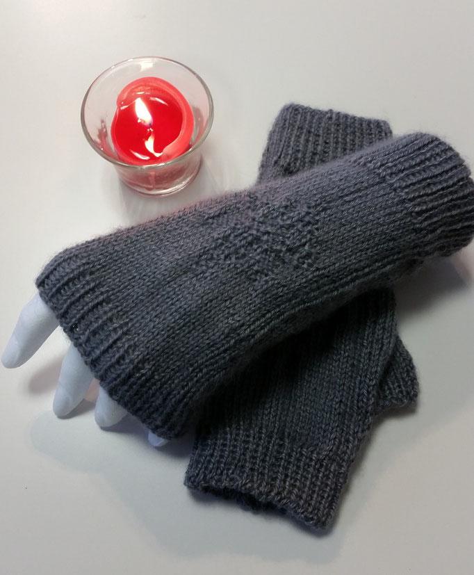 Handstulpen Material Alpaca/Seide Drops