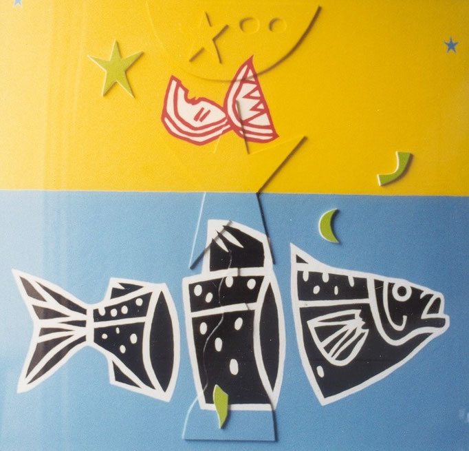 Poisson, citron, 1989, 80 x 80 cm
