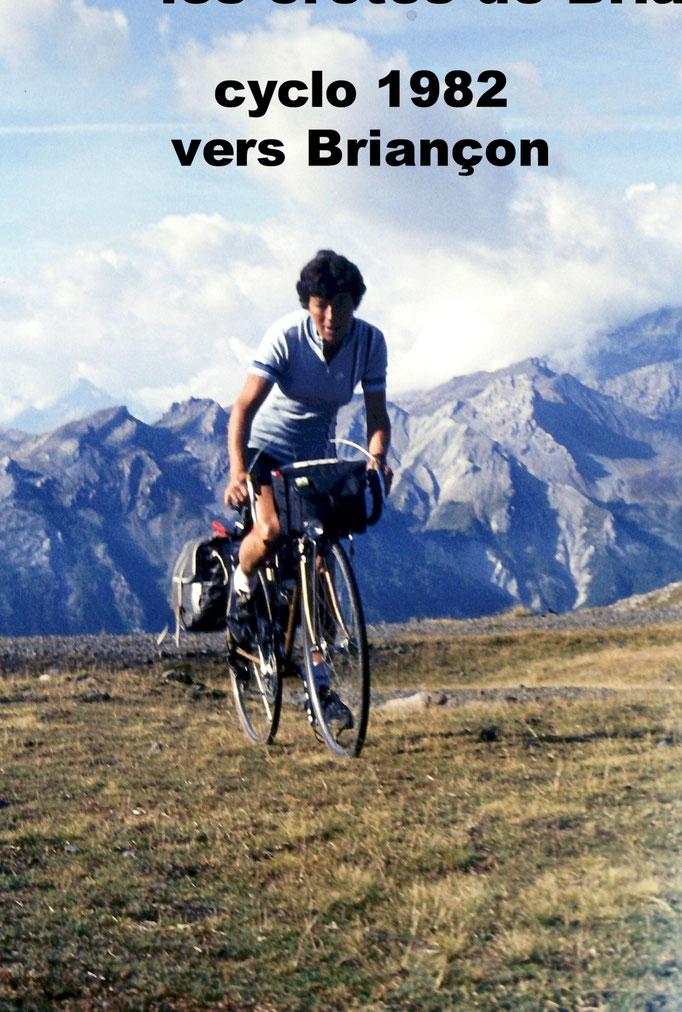 1982 - virée cyclo sur les crêtes de Briançon