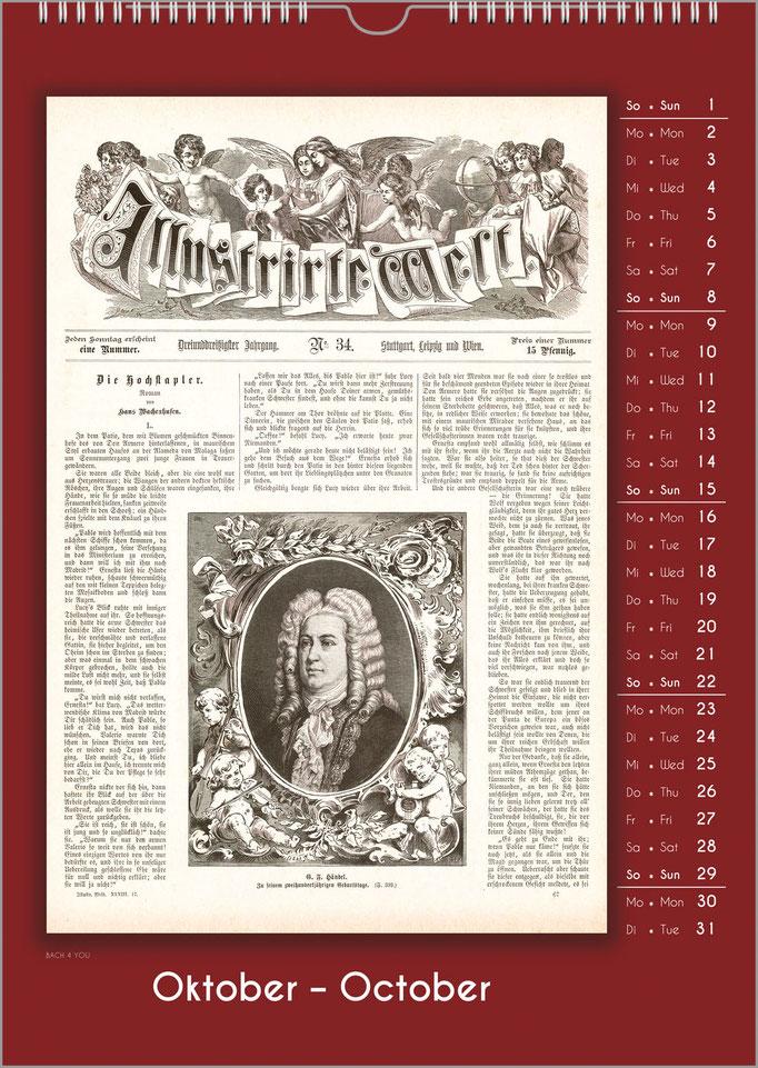 Musiker-Geschenk Komponisten-KalenderMusikgeschenk Komponisten-Kalender: Historische Zeitungs-Titel.