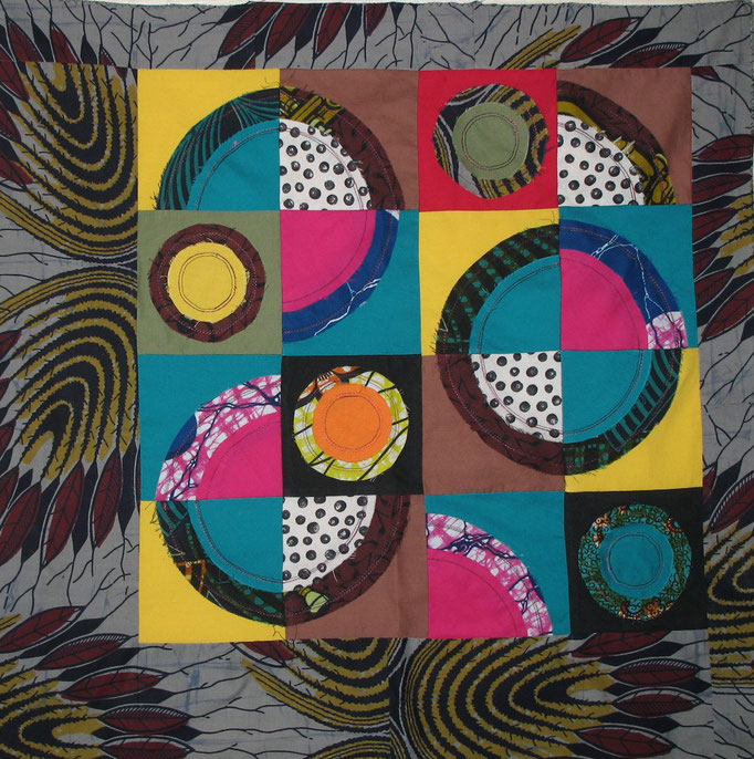 African rings - 56 x 56 cm