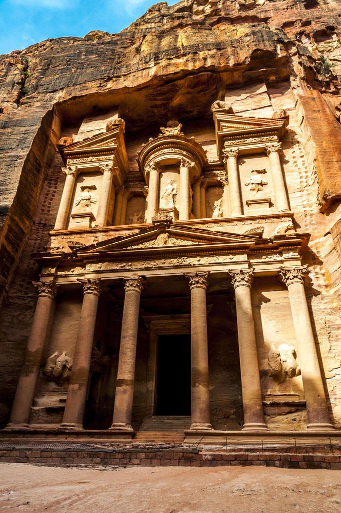 Khazne al-Firaun - das berühmte Schatzhaus des Pharao