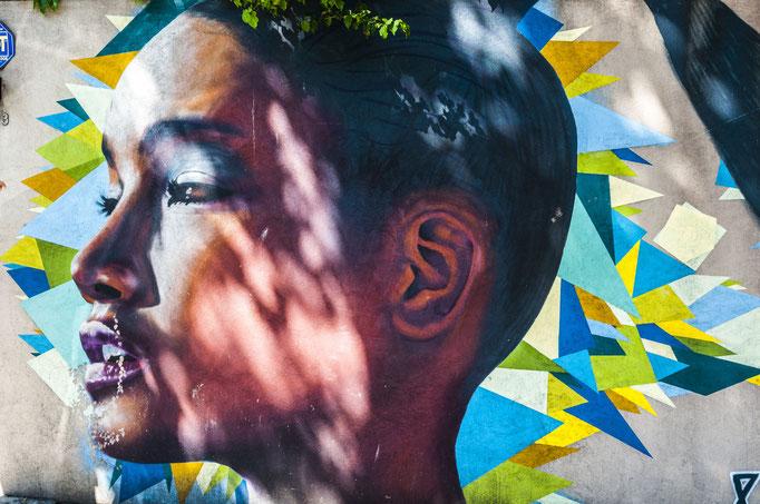 Afroamerikanische Gesichter sind das Markenzeichen des Künstlers Primo.