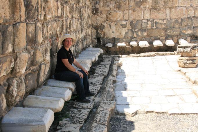 les toilettes antiques de Beth Shean