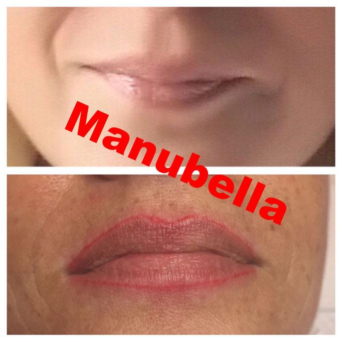 Lippen Contour