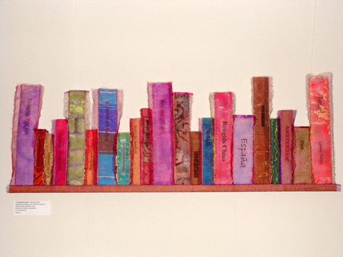 Zoo-tex op reis: boekenplank met reisgidsen
