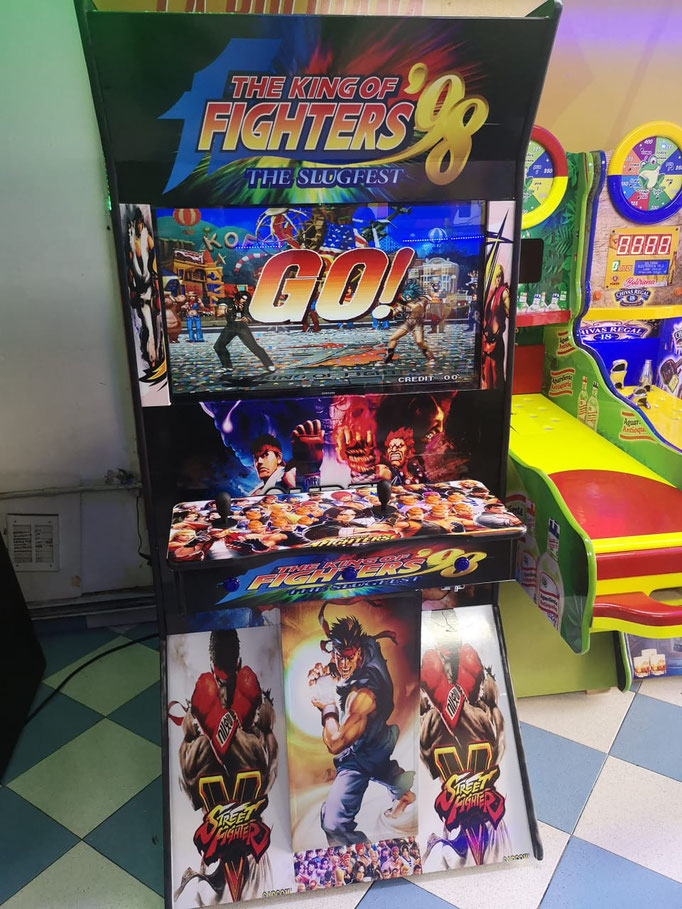 maquina arcade videojuegos king of fighters, Fabrica de maquinas arcade