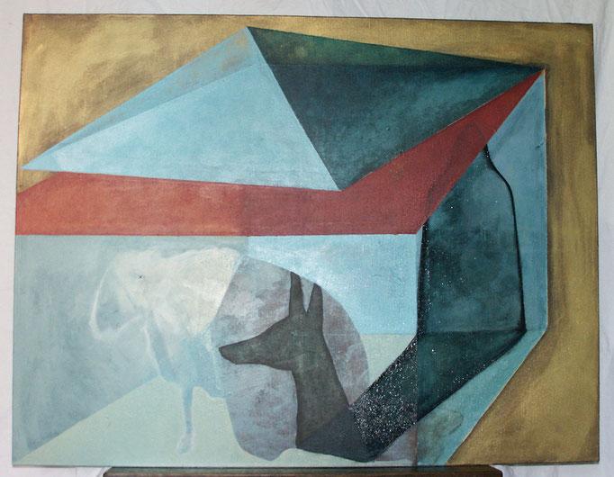"""""""Doupe"""", 116x89, acrylique, tempera sur toile ©"""
