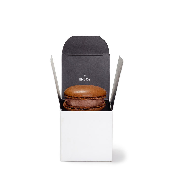 Give Away Box Macarons mit Firmen-Logo