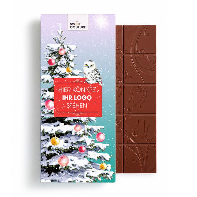 Schokolade mit Firmen-Logo  Weihnachten