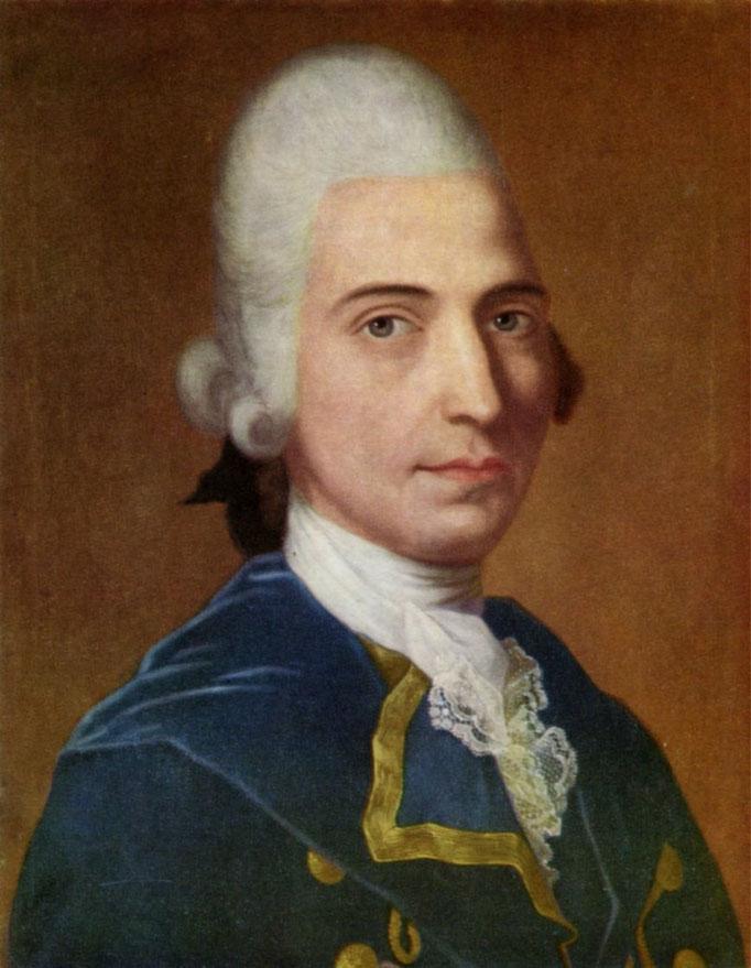 Porträtgemälde von Gottfried August Bürger, gemalt von Tischbein, 1771