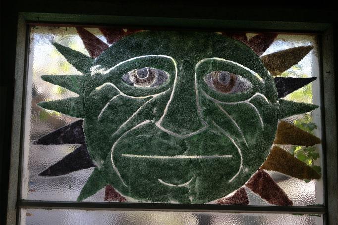 Another glass sun, Owl House, Nieu-Bethesda, South Africa.