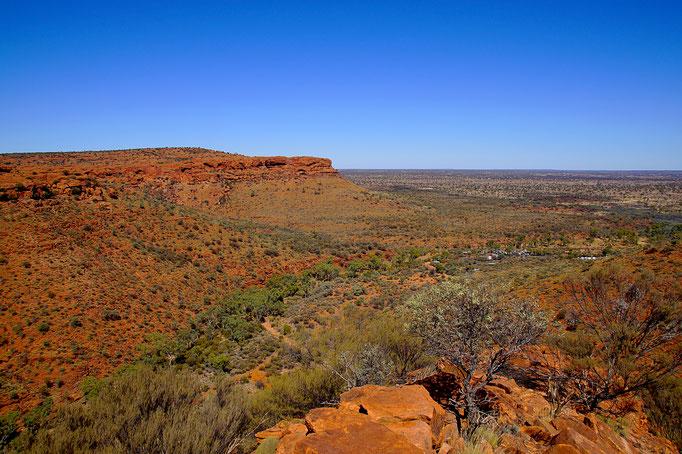 Der Kings Canyon bietet spektakuläre Ausblicke auf die Halbwüste im roten Zentrum.