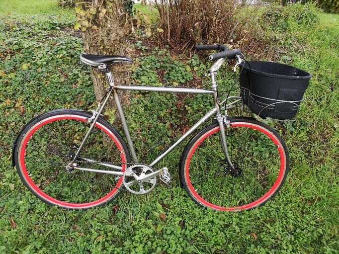 Frontkorb schweißen I Fahrradrahmen Löten/restaurieren / Schmiedekurs