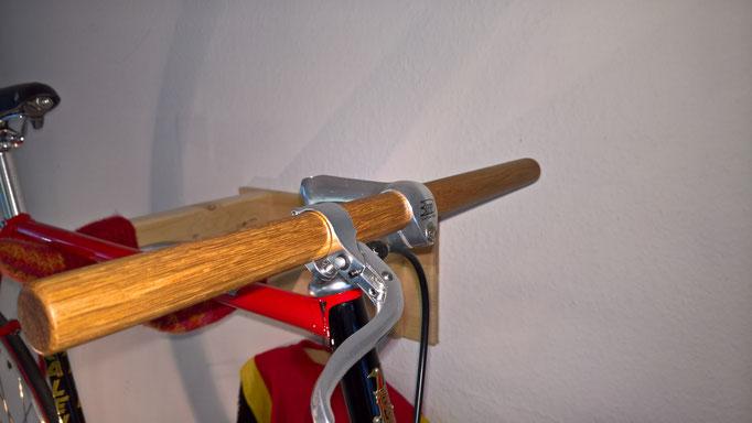 Holzlenker aus Eiche für Fixiebikes