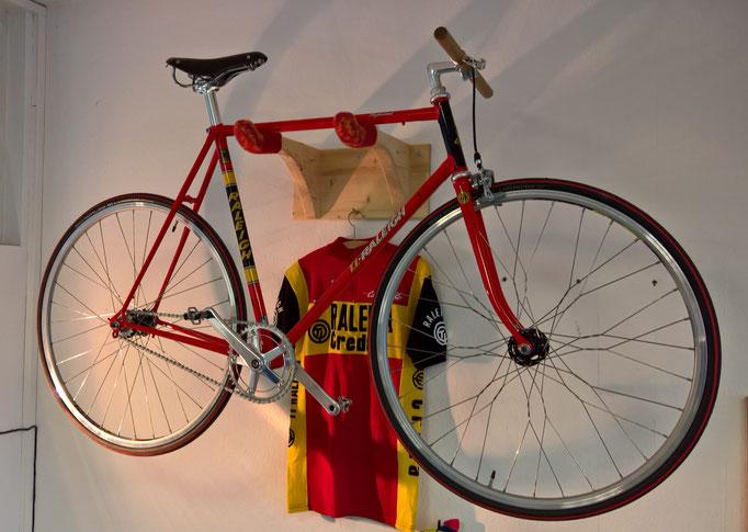Fixie-Bike auf der Basis vom orginal Diddi Thurau-Rahmen von 1977