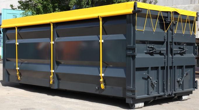 Container mit Blache Spantenfrei
