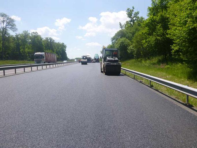 Autobahn Belagsarbeiten