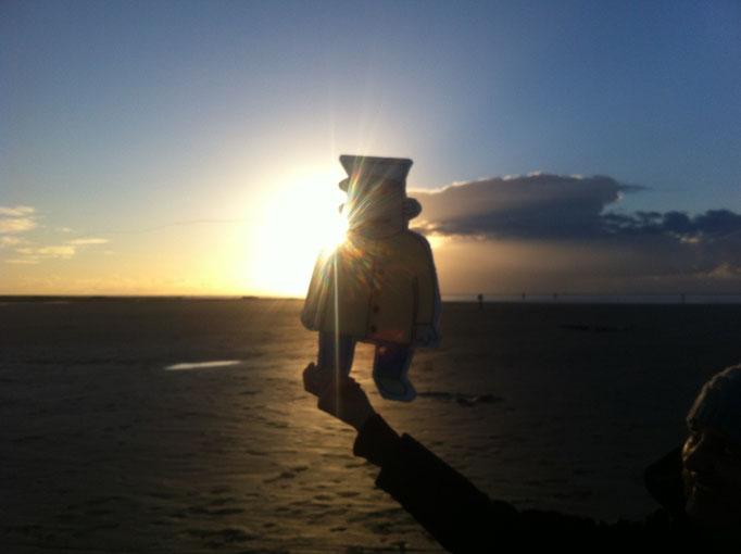 Im Licht der untergehenden Sonne hatte Fiete eine Vision ...