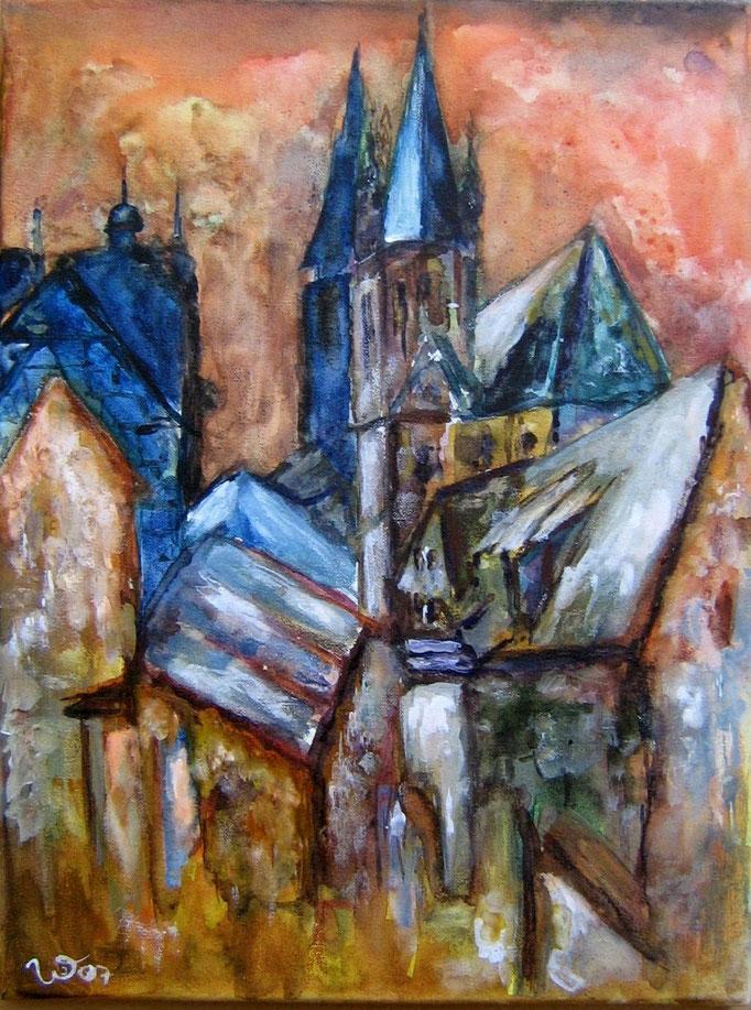 .-. Dächer einer Stadt