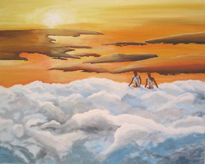 .-. Auf den Wolken