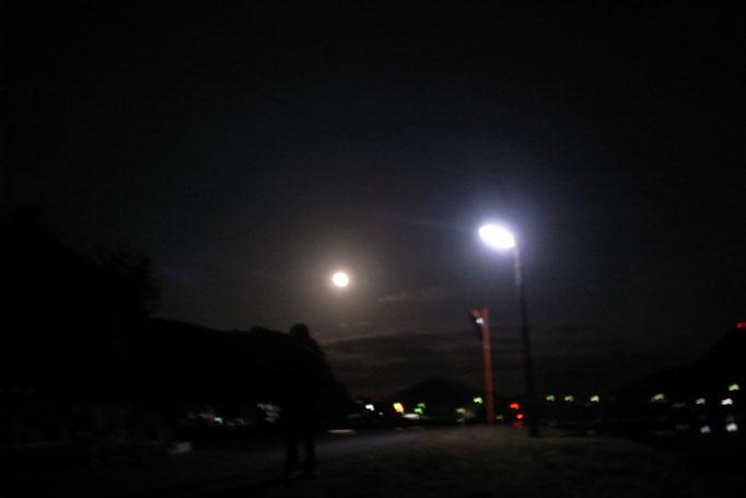 冬の夜・・・・  四季折々の、この橋が見える光景、大好きでした。