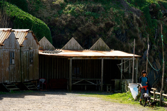 ein paar Fischerhütten