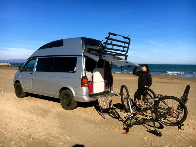 Zeit für und auf den Bikes...ebenfalls Ebre Delta