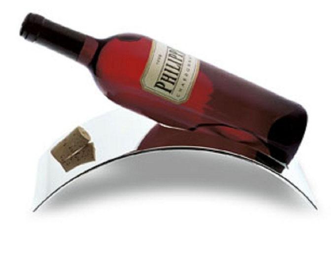 Stand Weinhalter, Edelstahl poliert