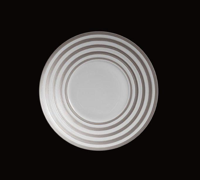 Hémispère, Teller mit grauen Streifen