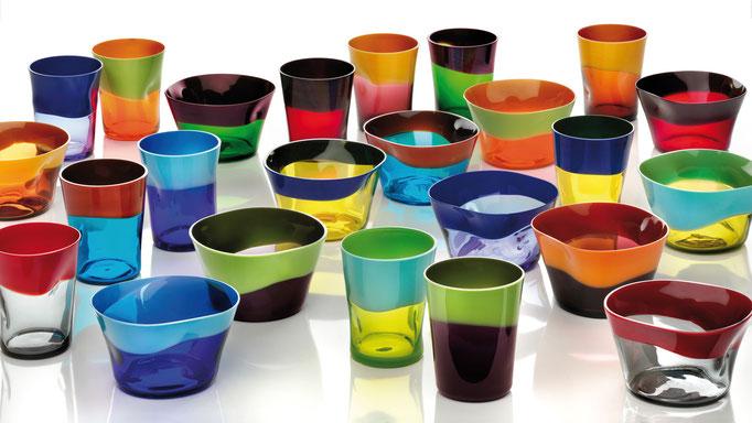 """Glas """"Dandy"""", verschiedene Farben"""