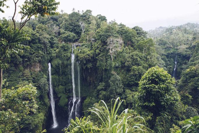 Die beiden Sekumpul-Wasserfälle