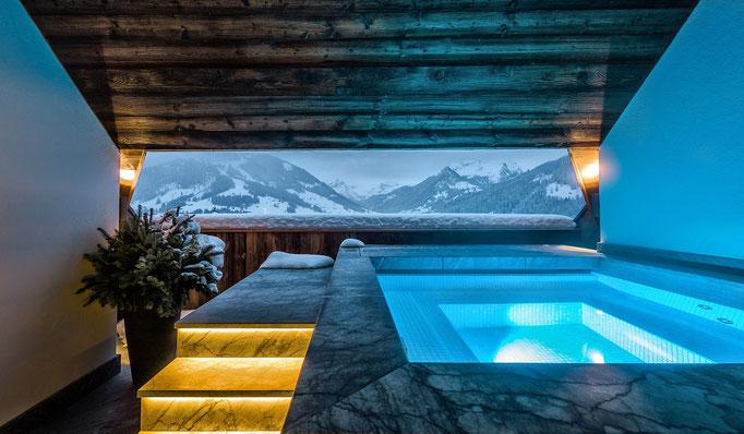 Snowtrade Royale - Luxus Ski Hotels & Premium Service für anspruchsvolle Kunden - privater Spa Bereich