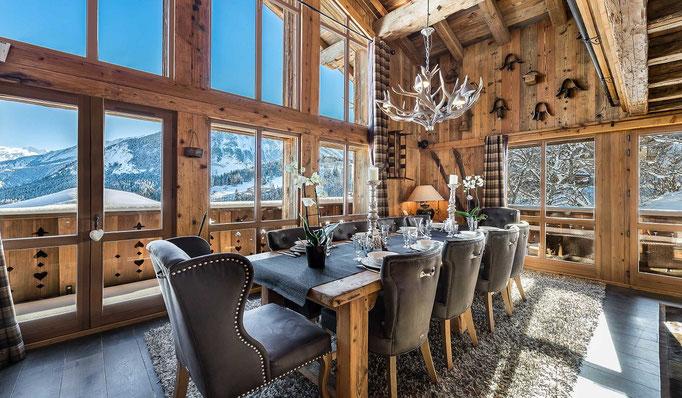 Luxus Chalets Ski in Ski Out mit grandiosem Fernblick, Frankreich, Schweiz, Österreich z.B. Courchevel, Verbier, Lech, Kitzbühel - Snowtrade Royale