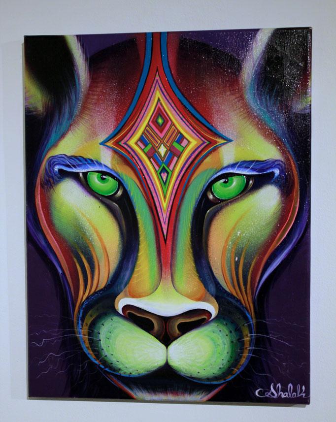 """""""Otro Espiritu"""", Acrylic on Canvas, 2015 (Sold to Private Collector -Chile)"""