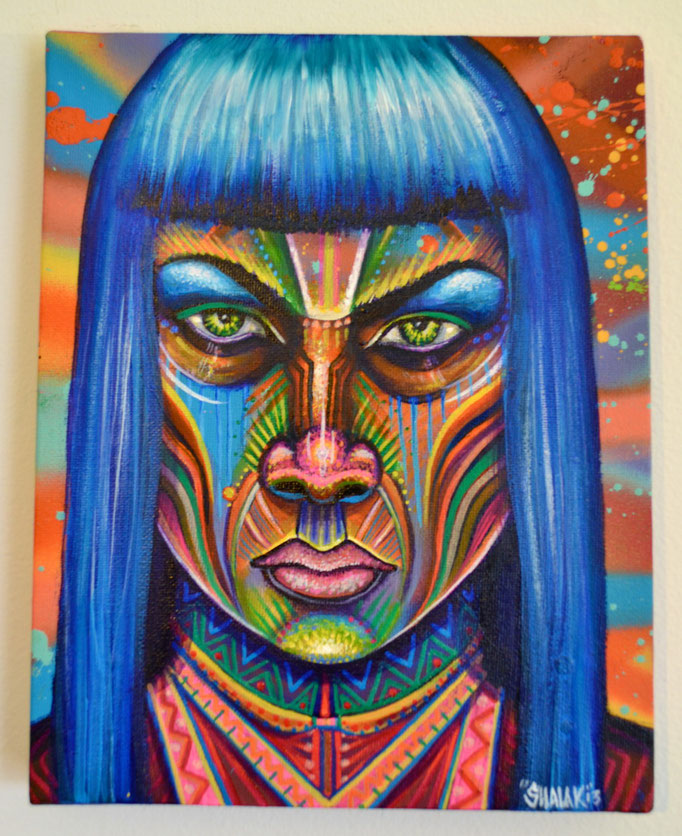 """""""Bruxa"""" By Shalak, Mixed Midia on Canvas, 2013, Canada (Sold - Private Collector - Sweden)"""