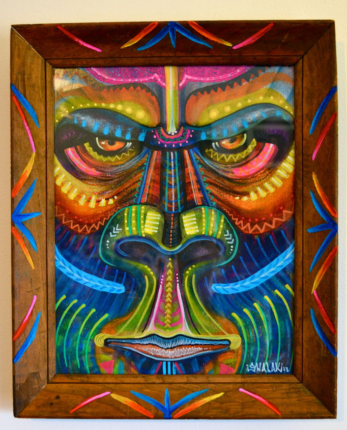 """""""Gorilla"""" By Shalak, Pastel on paper in custom frame,  2013 (Sold to Private Collector - Sweden)"""