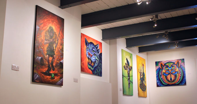 """Details of the """"IN THE RAW"""" Exhibit by the Clandestinos (Shalak and Smoky) in BSMT Space, London, UK, 2016"""