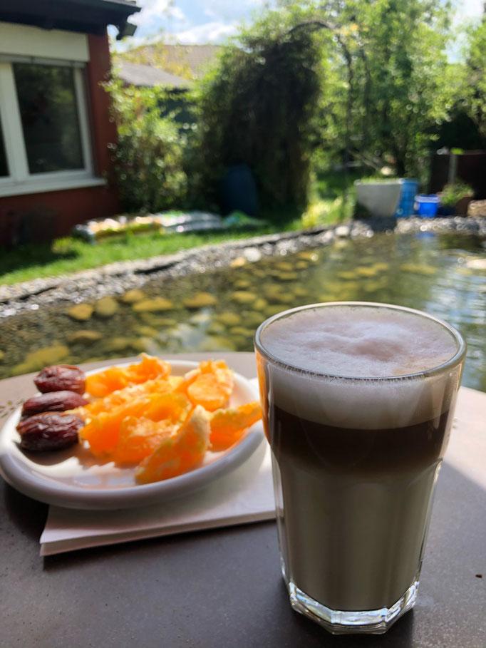 Frühstück am Teich- der perfekte Start in den Tag!