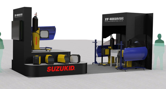 オートサービスショー2013.6 SUZUKIDブース デザインパース(CG)