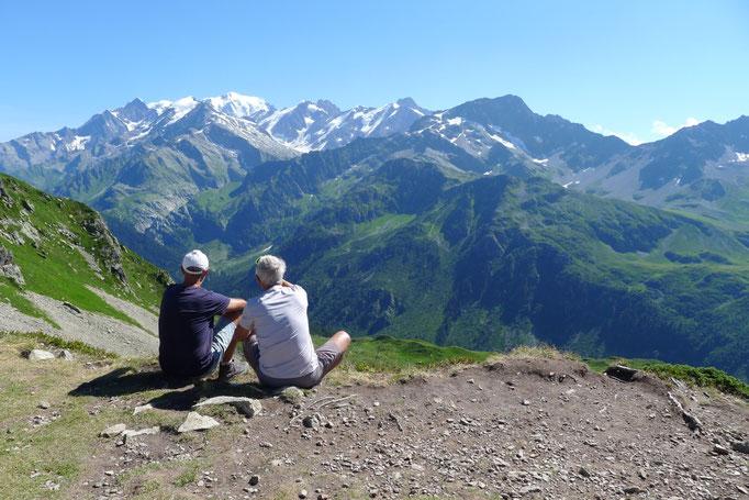 Le Mont-Blanc vu du Col de la Fenêtre