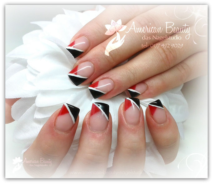 Gel Modellage: Schick in Schwarz & Rot