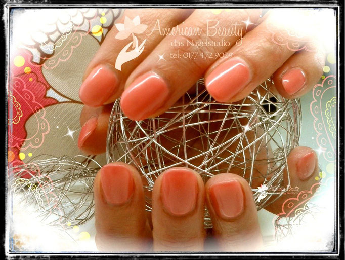 Acryl Modellage: Peachy Peach